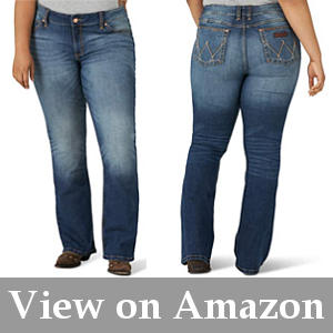 authentic curve-flattering jeans for rotund figures
