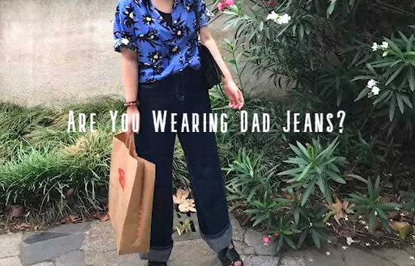 how to style dad jeans women's
